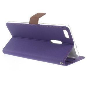 Diary peňaženkové puzdro pre mobil Asus Zenfone 3 Ultra - fialové - 3