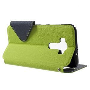 Diary puzdro s okýnkem na mobil Asus Zenfone 3 ZE520KL - zelené - 3