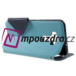 Diary puzdro s okýnkem na mobil Asus Zenfone 3 ZE520KL - světlemodré - 3