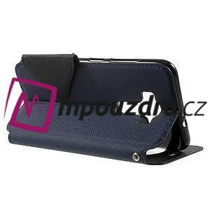 Diary puzdro s okýnkem na mobil Asus Zenfone 3 ZE520KL - tmavěmodré - 3