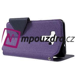 Diary puzdro s okýnkem na mobil Asus Zenfone 3 ZE520KL - fialové - 3
