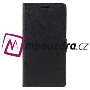 Leathy peňaženkové puzdro na Asus Zenfone 3 ZE520KL - čierne - 3