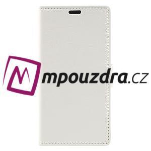 Leathy peňaženkové puzdro na Asus Zenfone 3 ZE520KL - biele - 3