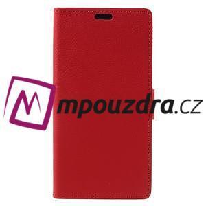 Leathy peňaženkové puzdro pre Asus Zenfone 3 ZE520KL - červené - 3