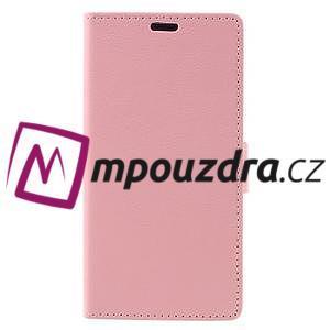 Leathy peňaženkové puzdro na Asus Zenfone 3 ZE520KL - růžové - 3