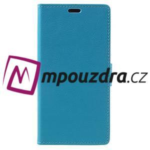 Leathy peňaženkové puzdro pre Asus Zenfone 3 ZE520KL - svetlomodré - 3
