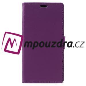 Leathy peňaženkové puzdro na Asus Zenfone 3 ZE520KL - fialové - 3