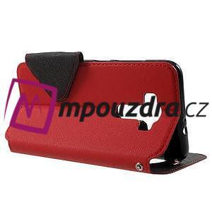 Diary puzdro s okýnkem na mobil Asus Zenfone 3 ZE520KL - červené - 3