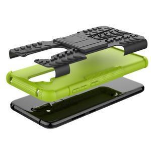 Kick odolný hybridný obal na Nokia 8.1 - zelený - 3