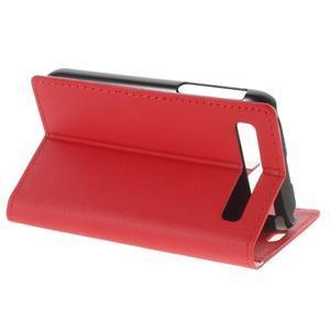 Peňaženkové puzdro pre mobil BlackBerry Classic - červené - 3