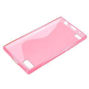 S-line gélový obal pre mobil BlackBerry Leap - rose - 3