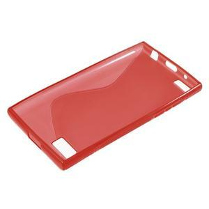 S-line gélový obal pre mobil BlackBerry Leap - červený - 3