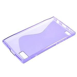 S-line gélový obal pre mobil BlackBerry Leap - fialový - 3