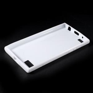 S-line gélový obal pre mobil BlackBerry Leap - biely - 3