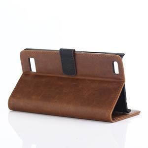 PU kožené peněženkové pouzdro na BlackBerry Leap - coffee - 3