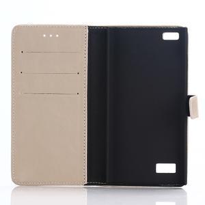 PU kožené peněženkové pouzdro na BlackBerry Leap - jako na obrázku - 3