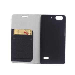 Peněženkové pouzdro na mobil Honor 4C - černé - 3