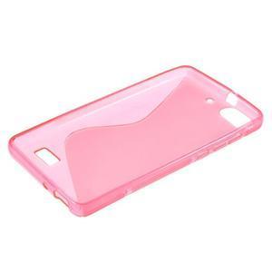 S-line gelový obal na mobil Honor 4C - rose - 3