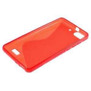 S-line gelový obal na mobil Honor 4C - červený - 3