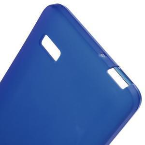 Matný gelový obal na Honor 4C - modrý - 3