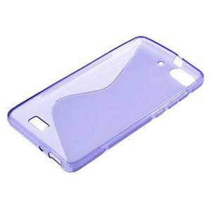 S-line gélový obal pre mobil Honor 4C - fialový - 3