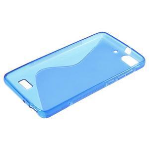 S-line gelový obal na mobil Honor 4C - modrý - 3