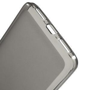 Matný gélový obal pre mobil Honor 5X - šedý - 3