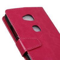 Horse peněženkové koženkové pouzdro na Huawei Honor 5X - rose - 3/7