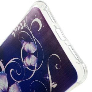 Drop gelový obal na Huawei Honor 5X - fialoví motýlci - 3