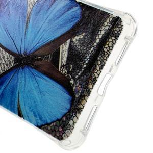 Drop gelový obal na Huawei Honor 5X - modrý motýl - 3