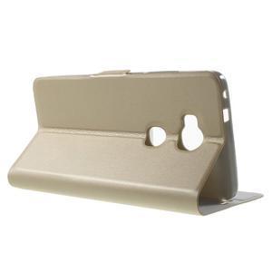 Peněženkové PU kožené pouzdro na mobil Honor 5X - champagne - 3