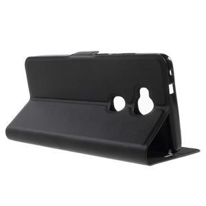 Peněženkové PU kožené pouzdro na mobil Honor 5X - černé - 3