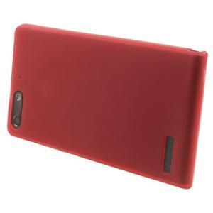 Matné gélové puzdro na Huawei Ascned G6 - červené - 3