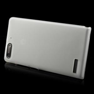 Matné gélové puzdro na Huawei Ascned G6 - biele - 3