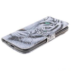 Peňaženkové puzdro pre mobil LG K10 - biely tygr - 3