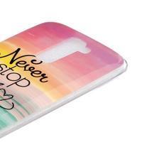 Fony gelový obal na mobil LG K10 - nepřestávej snít - 3/4