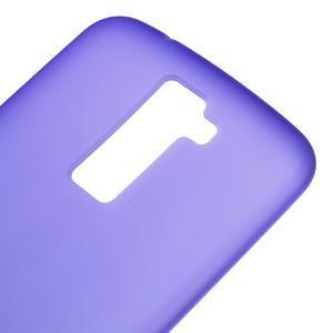 Matný gélový kryt pre LG K10 - fialový - 3