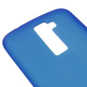 Matný gelový kryt na LG K10 - modrý - 3