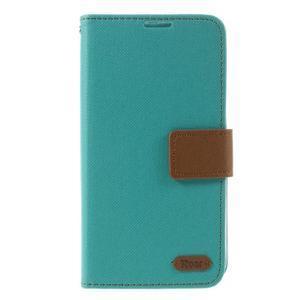 Style PU kožené puzdro pro LG K10 - zelenomodré - 3