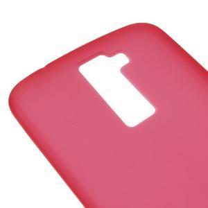 Matný gelový kryt na LG K10 - červený - 3