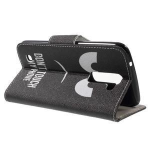 Wall peněženkové pouzdro na LG K10 - nešahat - 3