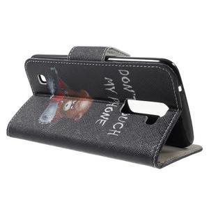 Wall peňaženkové puzdro pre LG K10 - medvedík - 3