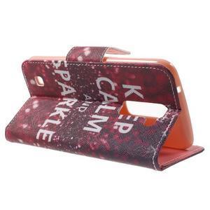 Wall peňaženkové puzdro pre LG K10 - Keep Calm - 3
