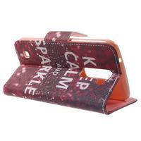 Wall peňaženkové puzdro pre LG K10 - Keep Calm - 3/7