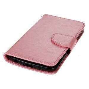 Horse PU kožené puzdro pre LG K10 - ružové - 3