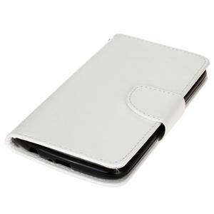 Horse PU kožené puzdro pre LG K10 - biele - 3