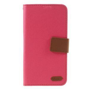 Style PU kožené puzdro pro LG K10 - rose - 3