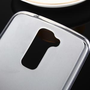 Stter matný gélový obal pre mobil LG K10 - biely - 3