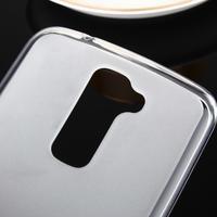 Stter matný gélový obal pre mobil LG K10 - biely - 3/6