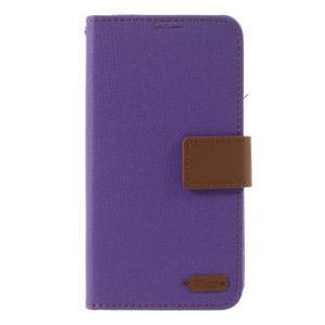 Style PU kožené puzdro pro LG K10 - fialové - 3